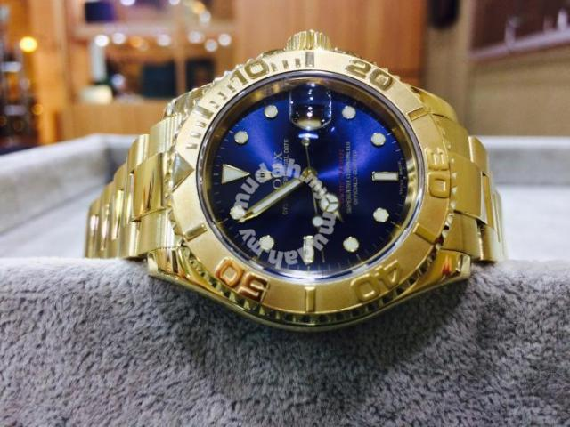 Rolex Yacht Master Solid Gold Blue Face